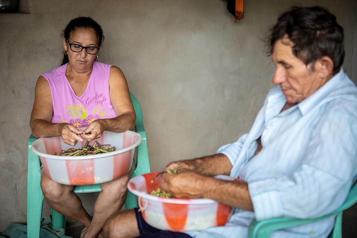 Dona Rita e Seu Antõnio agricultioes de Apoi Foto Sandro Menezes