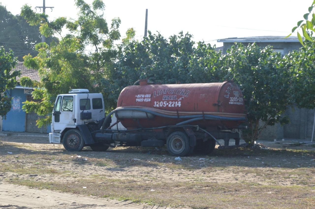 caminhão limpa-fossa. Foto: Reprodução