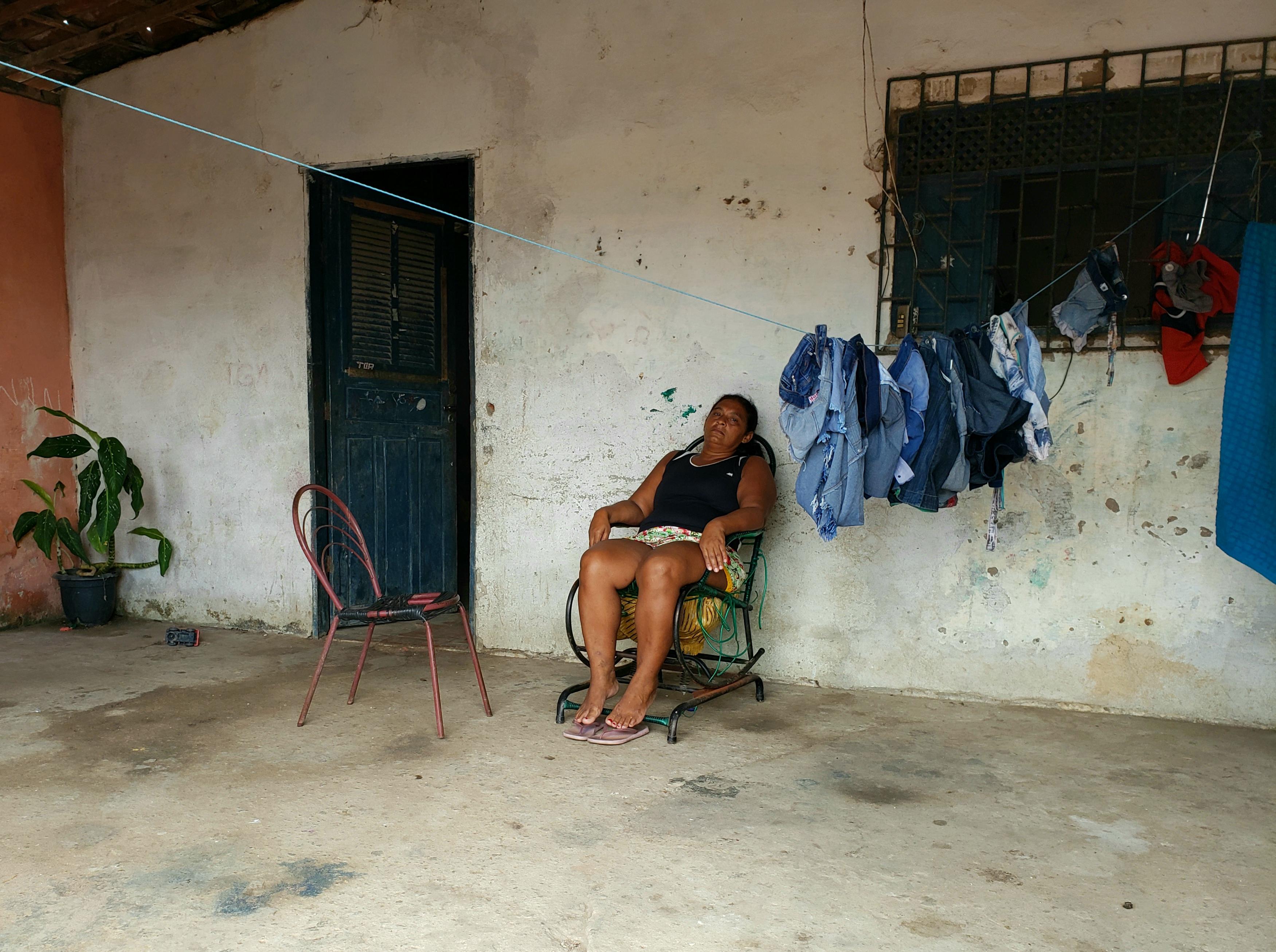 Maria Aparecida Paixão da Silva, 43 anos, mãe de Carlos Clayton Paixão da Silva. Foto: Bruno Vital/Agora RN