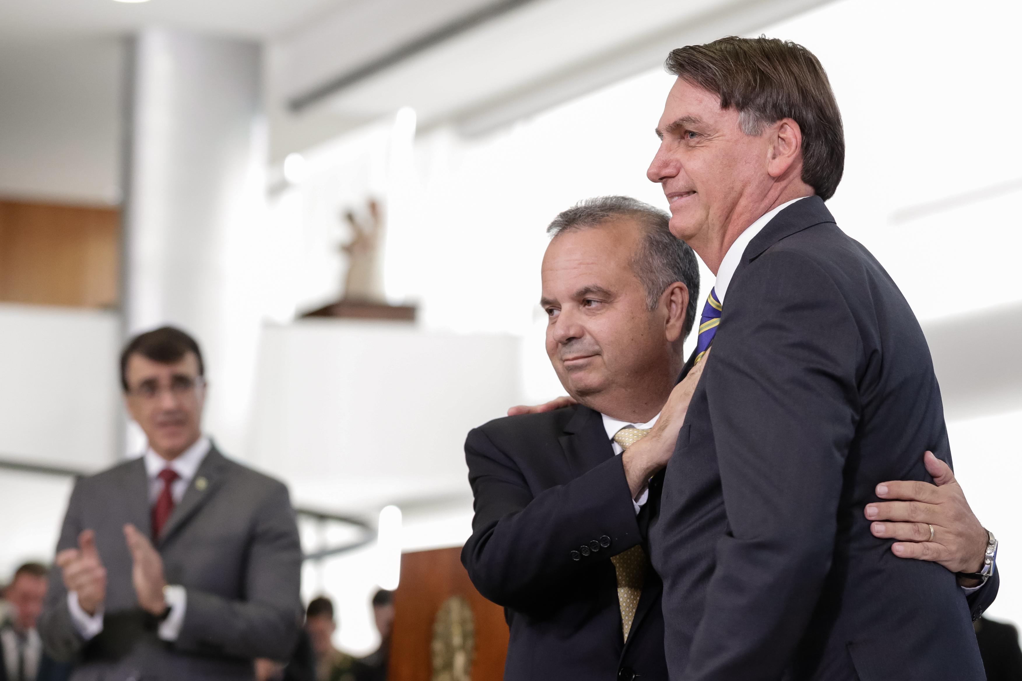 Rogério e Bolsonaro Foto Carolina Antunes PR