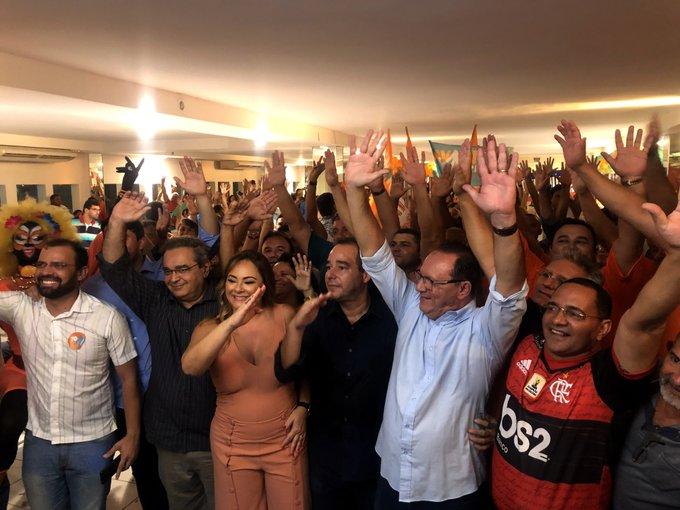 Encontro Estadual do Avante 13 03 20 Luís Tibé Karla Veruska Raniere Barbosa e Álvaro Dias Foto correta