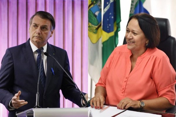 Presidente Jair Bolsonaro não convida Fátima Bezerra para agenda no RN