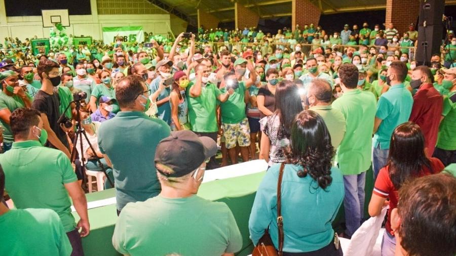 Aglomerações: Convenção do MDB em Santo Antônio (RN) - Reprodução