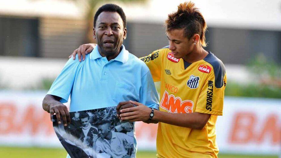 Neymar parabeniza pelé pelos seus 80 anos