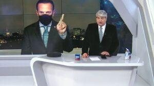 Datena bate boca com joão doria ao vivo no brasil urgente: 'pior entrevista'