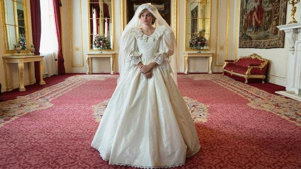 the crown liberou primeira foto de diana com vestido de noiva