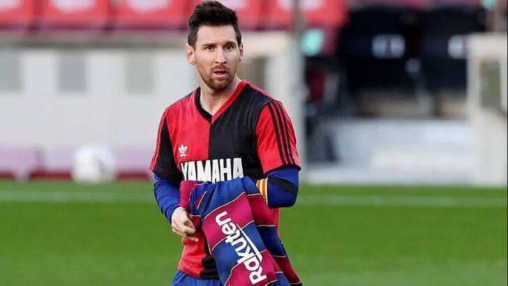 Homenagem de messi a maradona deve causar multa ao barcelona