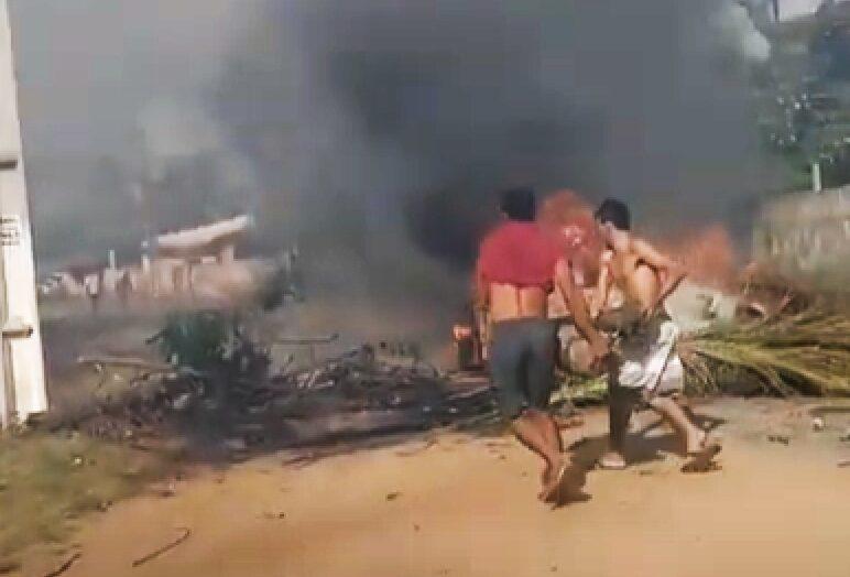 Após assassinato em extremoz, moradores fazem protesto e fecham rodovia na grande natal; veja vÍdeo