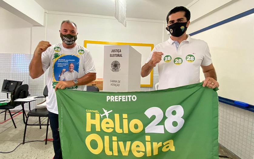 Candidato a prefeito de natal, coronel hélio vota e destaca campanha sem dinheiro público