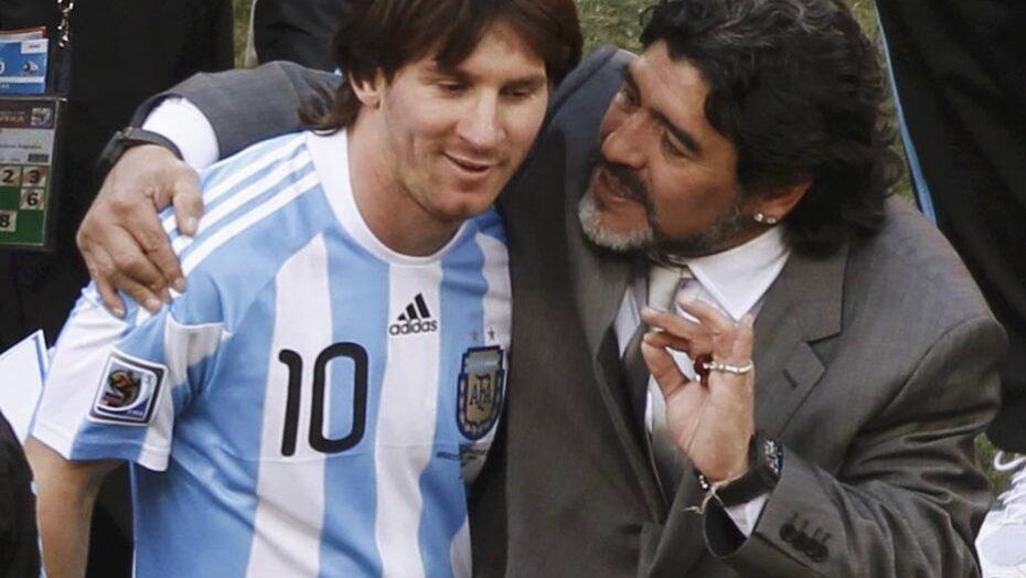 Messi manda mensagem para maradona: 'toda força do mundo. um abraço de coração'