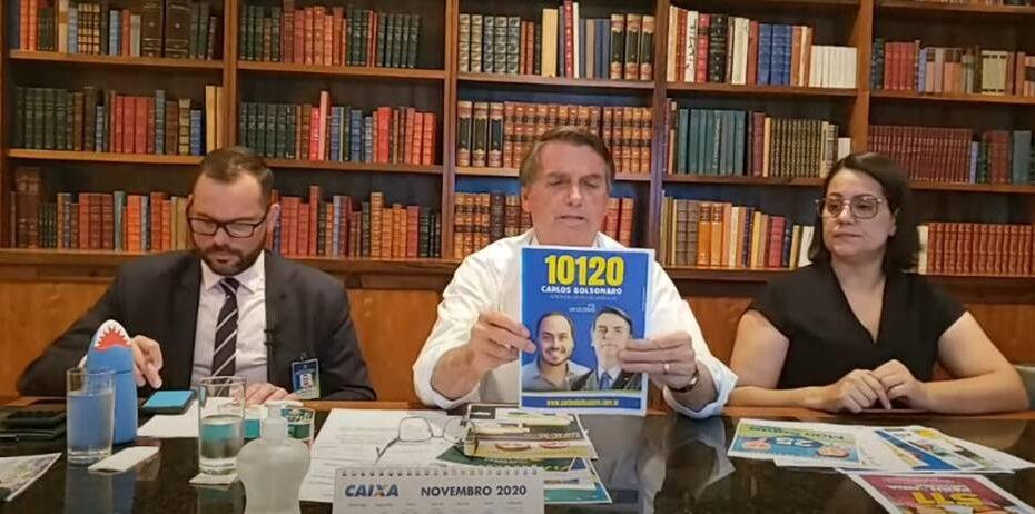 Presidente jair bolsonaro transforma 'live' em horário eleitoral