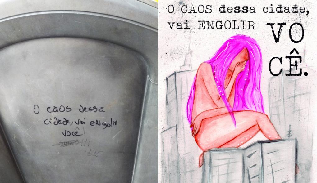 Artista natalense ilustra frases de busão em exposição virtual