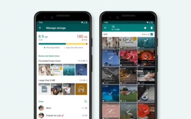 Whatsapp apresenta nova ferramenta para gerenciar espaço