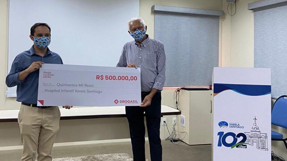 Hospital infantil varela santiago recebe doação de r$ 500 mil das farmácias droga raia e drogasil