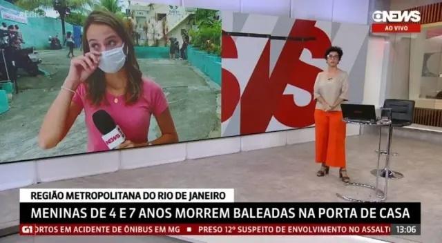 Repórter se emociona ao vivo ao noticiar morte de meninas no rio de janeiro
