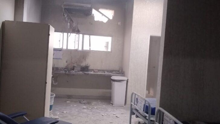 Princípio de incêndio atinge enfermaria do hospital deoclécio marques, em parnamirim