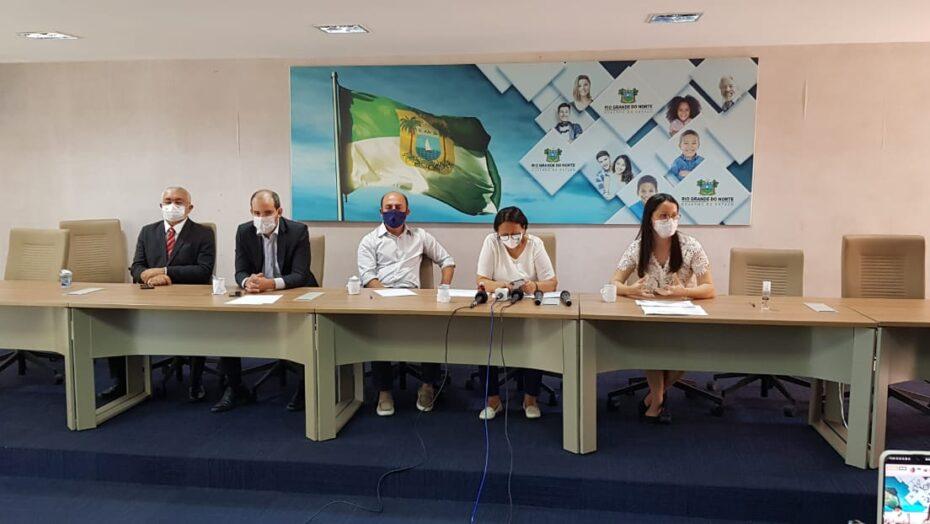 Fátima anuncia abertura de leitos hospitalares e novas ações para conter avanço da covid-19 no rn