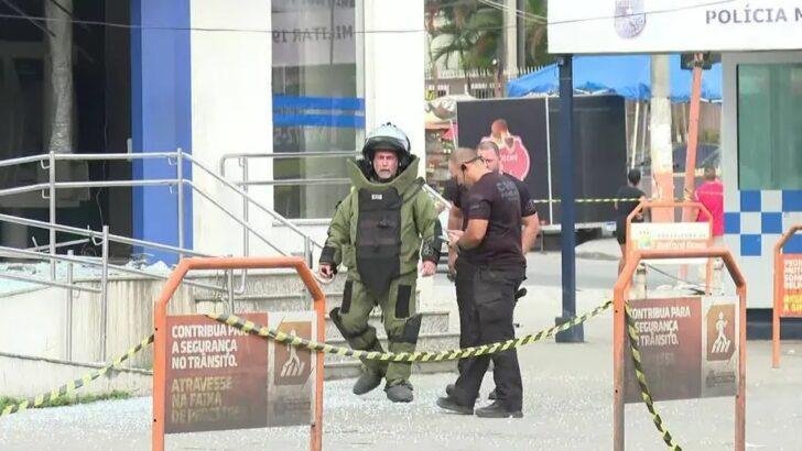 Bandidos usam explosivos em ataque à agência da caixa em belford roxo