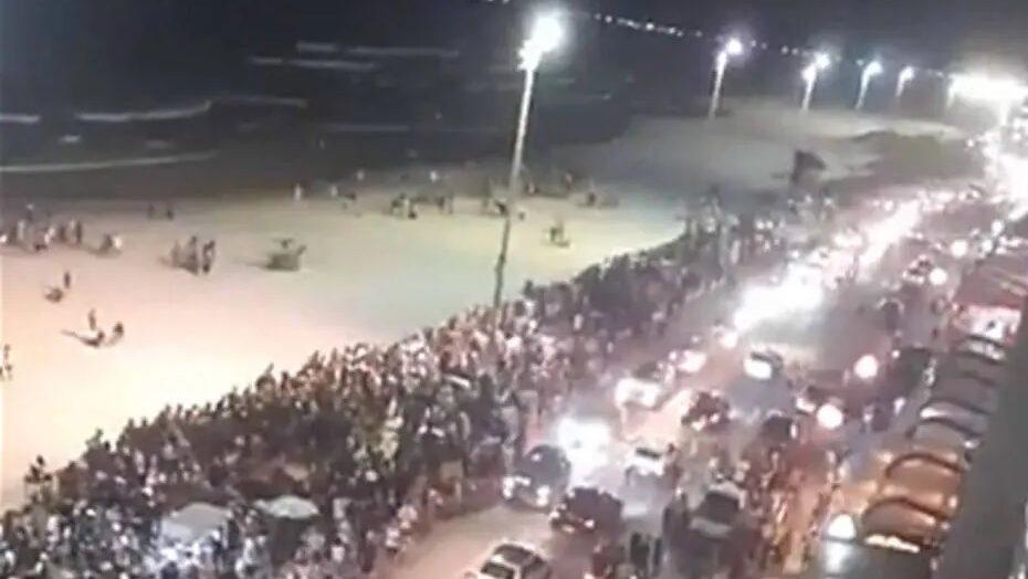 Festas irregulares reúnem centenas em praias do rio de janeiro