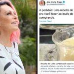 """Ana maria ensina receita de leite condensado: """"em vez de gastar r$ 15 milhões"""""""