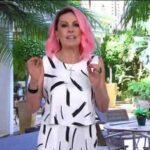"""Ana maria braga aparece de cabelo rosa: """"para trazer boas energias"""""""