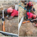 Homem cai em buraco, fica preso, mas é resgatado pelo corpo de bombeiros em natal