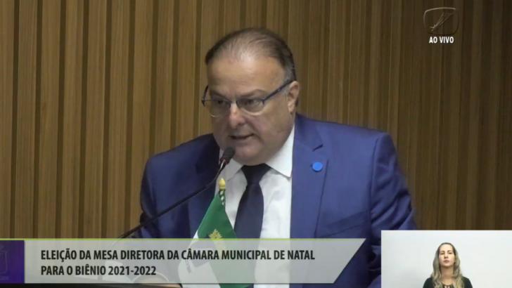 Paulinho freire é reeleito presidente da câmara de natal