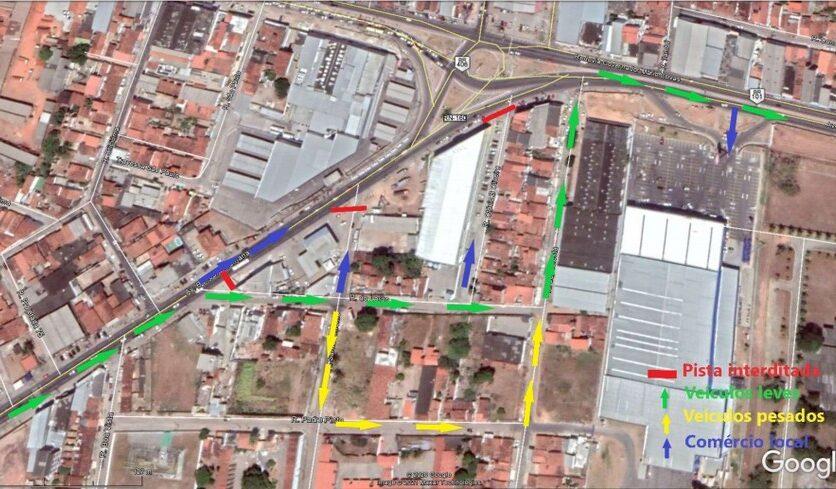 Dnit fecha rua no entorno das obras do gancho de igapó nesta sexta