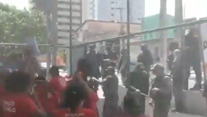 Manifestantes entram em conflito com guarda municipal durante discussão do plano diretor de natal; vÍdeo