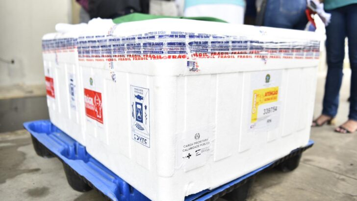 Rn recebe mais 14.500 doses da vacina coronavac nesta segunda-feira