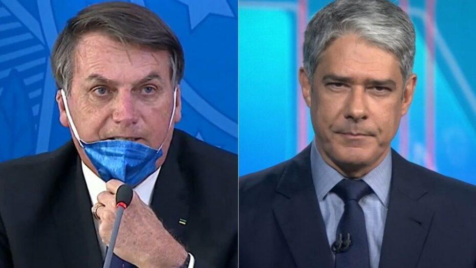 Bolsonaro parte para o ataque contra bonner: 'sem vergonha, acabou a teta'