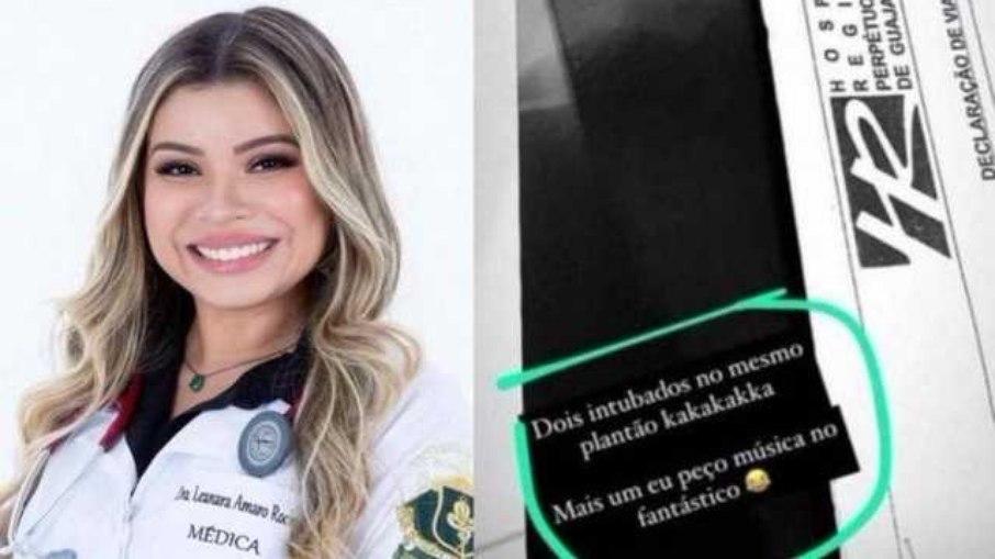 """Médica faz piada após intubar pacientes e gera revolta: """"mais um eu peço música"""""""