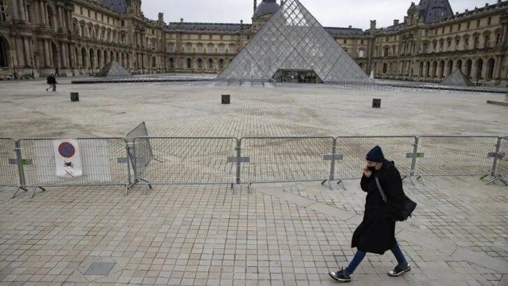 Visitas ao museu do louvre na frança caíram 72% em 2020