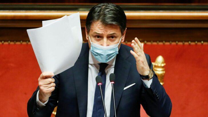 Premiê italiano giuseppe conte renuncia; presidente iniciará consultas