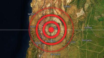 Terremoto é registrado perto da fronteira da argentina com o chile