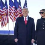 'nós voltaremos de alguma forma', diz trump em último discurso como presidente