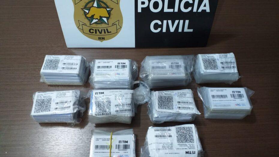 Polícia civil recupera 449 chips de celular furtados na grande natal