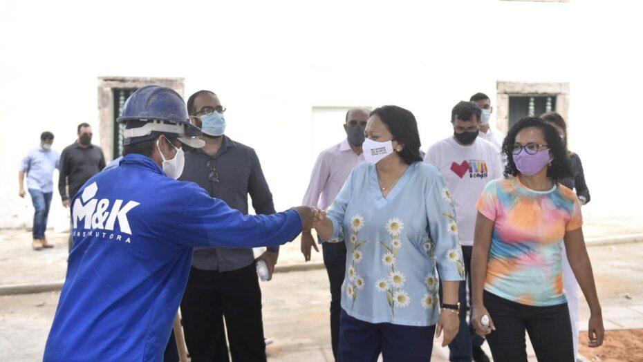 Governadora visita obras de revitalização das praças históricas de natal