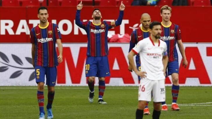 Com show de messi, barcelona vence sevilla e assume vice-liderança provisória
