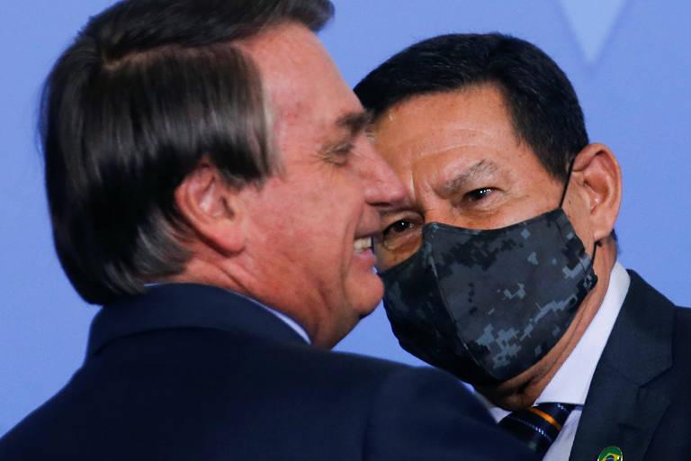 Novo sinal de degaste: bolsonaro exclui mourão de reunião ministerial