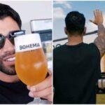 Gusttavo lima recebe caminhão de cerveja com estoque para 6 meses