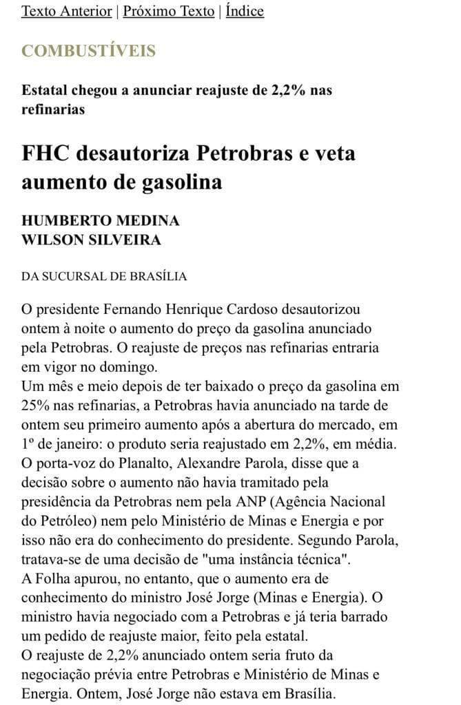 """Fábio faria lembra interferência de fhc na petrobras: """"jamais faremos o que ele fez"""""""