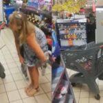 Covid-19: mulher tira calcinha e usa ela como 'máscara' em supermercado