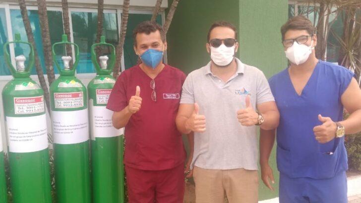 Empresários de tibau e pipa fazem campanha e doam cilindros de oxigênio para hospital da região