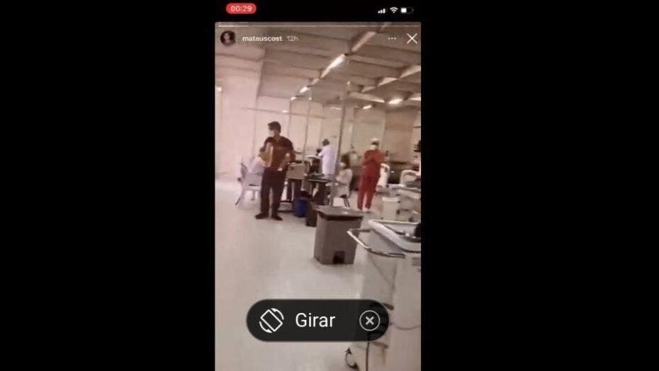 Estudante de medicina toca sanfona para pacientes e profissionais em upa; veja vÍdeo
