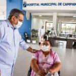 Álvaro dias monitora instalação de leitos-críticos do hospital de campanha
