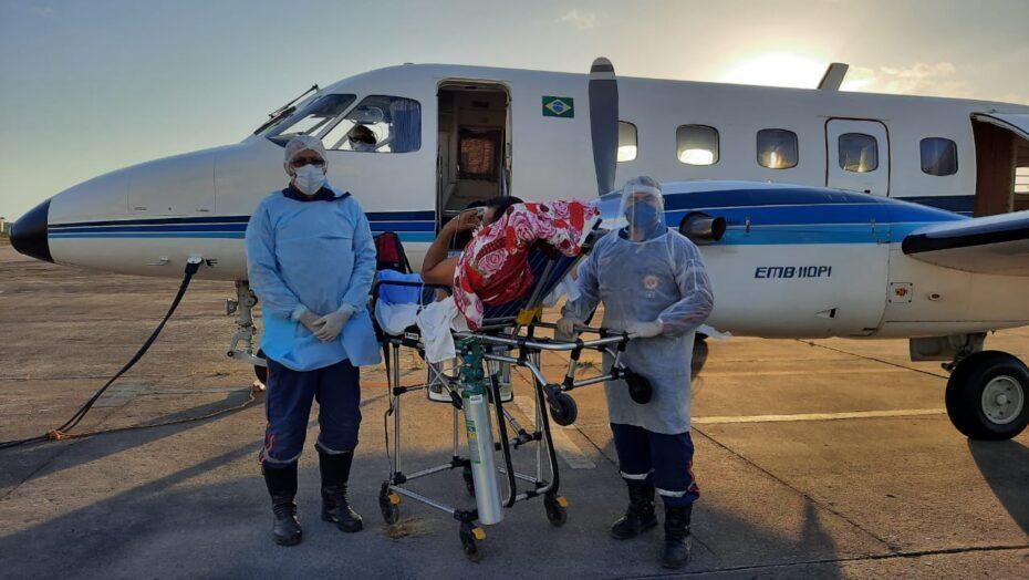 Mais dois pacientes covid são transferidos de avião da região metropolitana para o interior do rn