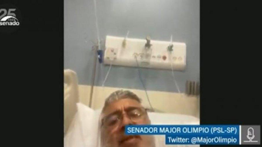 Senador major olímpio é internado na uti após agravamento da covid-19