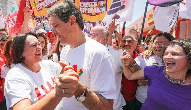 Haddad diz que fátima pode ser escolha do pt para disputar eleições presidenciais de 2022