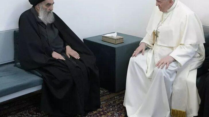 Papa francisco e aiatolá ali al-sistani têm encontro histórico no iraque